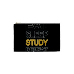 Eat Sleep Study Repeat Cosmetic Bag (small)  by Valentinaart