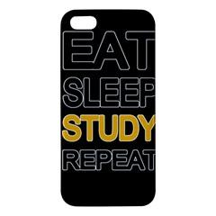 Eat Sleep Study Repeat Iphone 5s/ Se Premium Hardshell Case by Valentinaart