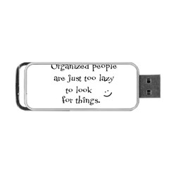 Lazy Portable Usb Flash (one Side) by Valentinaart