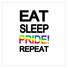 Eat Sleep Pride Repeat Large Satin Scarf (square) by Valentinaart
