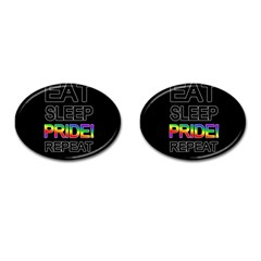Eat Sleep Pride Repeat Cufflinks (oval) by Valentinaart