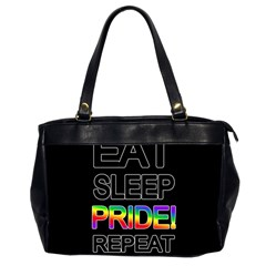 Eat Sleep Pride Repeat Office Handbags (2 Sides)  by Valentinaart