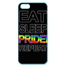 Eat Sleep Pride Repeat Apple Seamless Iphone 5 Case (color) by Valentinaart