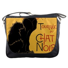 Black Cat Messenger Bags by Valentinaart