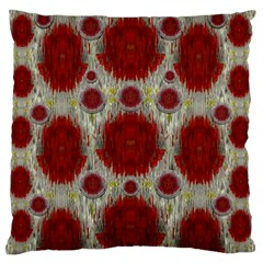 Paint On Water Falls,in Peace And Calm Large Flano Cushion Case (two Sides) by pepitasart