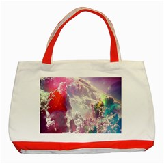 Clouds Multicolor Fantasy Art Skies Classic Tote Bag (Red)