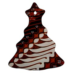 Traditional Batik Sarong Christmas Tree Ornament (Two Sides)