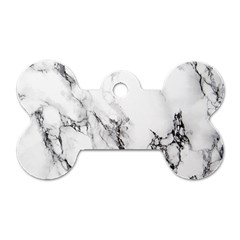 Marble Pattern Dog Tag Bone (Two Sides)