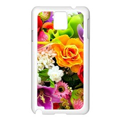 Colorful Flowers Samsung Galaxy Note 3 N9005 Case (White)