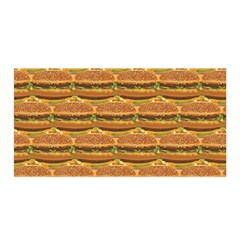 Delicious Burger Pattern Satin Wrap by berwies