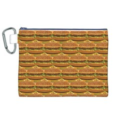 Delicious Burger Pattern Canvas Cosmetic Bag (xl) by berwies