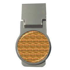 Delicious Burger Pattern Money Clips (round)  by berwies