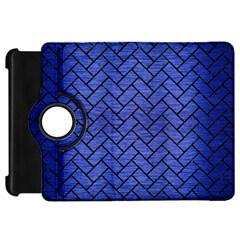 Brick2 Black Marble & Blue Brushed Metal (r) Kindle Fire Hd Flip 360 Case by trendistuff
