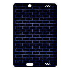 Brick1 Black Marble & Blue Brushed Metal Amazon Kindle Fire Hd (2013) Hardshell Case by trendistuff