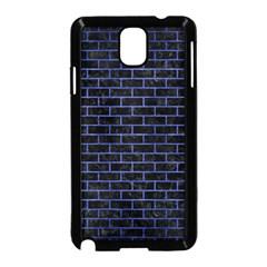 Brick1 Black Marble & Blue Brushed Metal Samsung Galaxy Note 3 Neo Hardshell Case (black) by trendistuff
