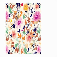 Vector Floral Art Small Garden Flag (Two Sides) by Gogogo