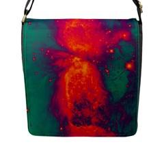 Space Flap Messenger Bag (l)  by Valentinaart