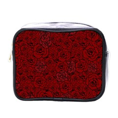Red Roses Field Mini Toiletries Bags by designworld65