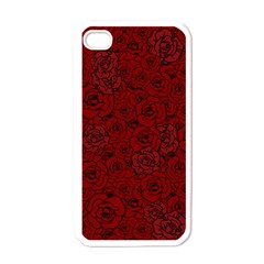 Red Roses Field Apple Iphone 4 Case (white) by designworld65