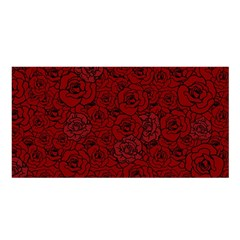Red Roses Field Satin Shawl by designworld65