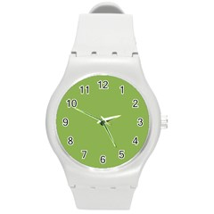 Trendy Basics   Trend Color Greenery Round Plastic Sport Watch (m) by tarastyle