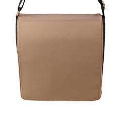 Trendy Basics   Trend Color Hazelnut Flap Messenger Bag (l)  by tarastyle