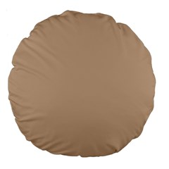 Trendy Basics   Trend Color Hazelnut Large 18  Premium Flano Round Cushions by tarastyle
