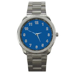 Trendy Basics   Trend Color Lapis Blue Sport Metal Watch by tarastyle