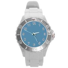 Trendy Basics   Trend Color Niagara Round Plastic Sport Watch (l) by tarastyle