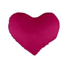 Trendy Basics   Trend Color Pink Yarrow Standard 16  Premium Heart Shape Cushions by tarastyle
