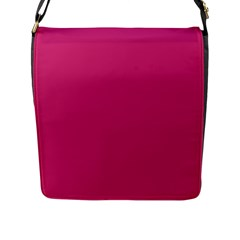 Trendy Basics   Trend Color Pink Yarrow Flap Messenger Bag (l)  by tarastyle