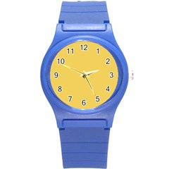 Trendy Basics   Trend Color Primerose Yellow Round Plastic Sport Watch (s) by tarastyle