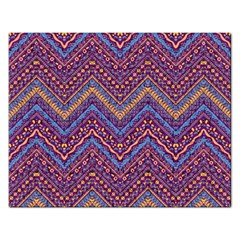 Colorful Ethnic Background With Zig Zag Pattern Design Rectangular Jigsaw Puzzl by TastefulDesigns