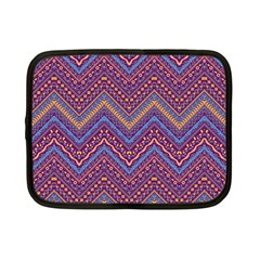 Colorful Ethnic Background With Zig Zag Pattern Design Netbook Case (small)  by TastefulDesigns
