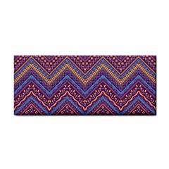 Colorful Ethnic Background With Zig Zag Pattern Design Cosmetic Storage Cases by TastefulDesigns