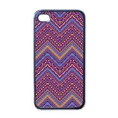 Colorful Ethnic Background With Zig Zag Pattern Design Apple Iphone 4 Case (black) by TastefulDesigns