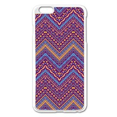 Colorful Ethnic Background With Zig Zag Pattern Design Apple Iphone 6 Plus/6s Plus Enamel White Case by TastefulDesigns