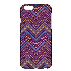Colorful Ethnic Background With Zig Zag Pattern Design Apple Iphone 6 Plus/6s Plus Hardshell Case by TastefulDesigns