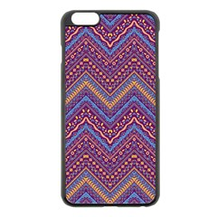 Colorful Ethnic Background With Zig Zag Pattern Design Apple Iphone 6 Plus/6s Plus Black Enamel Case by TastefulDesigns