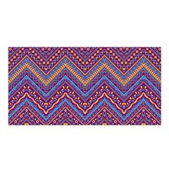 Colorful Ethnic Background With Zig Zag Pattern Design Satin Shawl by TastefulDesigns