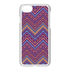 Colorful Ethnic Background With Zig Zag Pattern Design Apple Iphone 7 Seamless Case (white) by TastefulDesigns