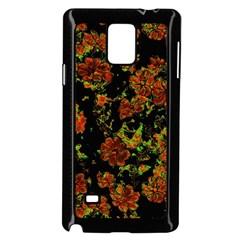 Floral Dreams 12 C Samsung Galaxy Note 4 Case (black) by MoreColorsinLife