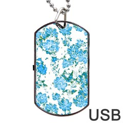 Floral Dreams 12 E Dog Tag Usb Flash (one Side) by MoreColorsinLife