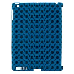 Lion Vs Gazelle Damask In Teal Apple Ipad 3/4 Hardshell Case (compatible With Smart Cover) by emilyzragz