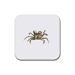 Dark Crab Photo Rubber Square Coaster (4 Pack)  by dflcprints