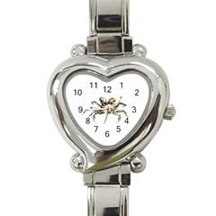Dark Crab Photo Heart Italian Charm Watch by dflcprints