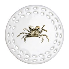 Dark Crab Photo Ornament (round Filigree) by dflcprints