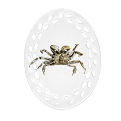 Dark Crab Photo Oval Filigree Ornament (two Sides) by dflcprints