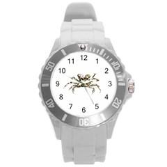 Dark Crab Photo Round Plastic Sport Watch (l) by dflcprints