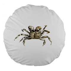 Dark Crab Photo Large 18  Premium Round Cushions by dflcprints